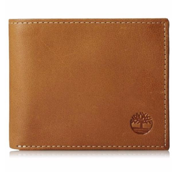 Timberland Mens Cloudy Passcase Wallet, Tan