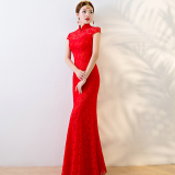 Discount S*xy Red Bride New Style Cheongsam Wedding Dress Oem On China