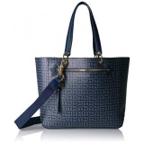 Tommy Hilfiger Item Travel Tote Bag For Women Navy Tonal Intl In Stock