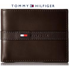 Tommy Hilfiger Men S Ranger Leather Passcase Wallet With Removable Card Case Gift Box Brown Best Price