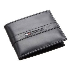 Cheap Tommy Hilfiger Men S Ranger Passcase Wallet With Faux Leather Gift Box Black