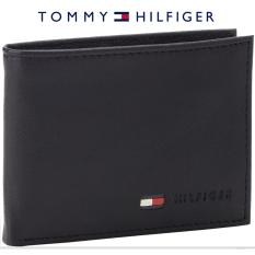 Tommy Hilfiger Mens Stockton Leather Passcase Billfold Wallet With Removable Card Case Gift Box Black Brown Tan Free Shipping