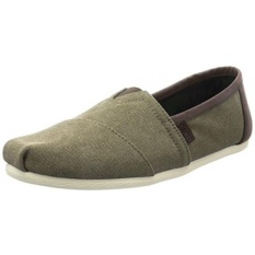 Men's Classic Slip On (8 D(M) US (Olive Washed Canvas/Trim))