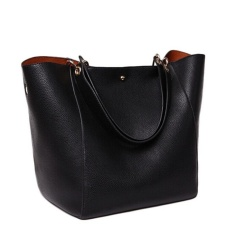 Low Cost Top Rate 2017 New Fashion Women Handbag Famous Brand Shoulder Bags Solid Designer Handbags Ladies Hand Bags Women Tote Big Female Bag Black Overseas Intl