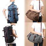 Price Top Rate Vintage Canvas Backpack Laptop Rucksack Outdoor Travel Hikingclimbing Shoulder Duffle Bags Black Intl China