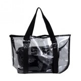 Review Top Rate Ybc Fashion Women Jelly Candy Clear Transparent Handbag Tote Shoulder Bags Beach Bag Black Intl Oem