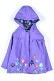 Toprank G*rl Kids Rainwear Children S Raincoat G*rl Cloak Long Sleeve Flowers Hooded Waterproof Purple Oem Cheap On Singapore