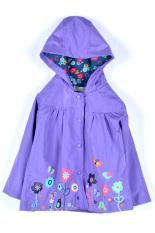 Low Cost Toprank G*rl Kids Rainwear Children S Raincoat G*rl Cloak Long Sleeve Flowers Hooded Waterproof Purple