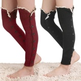 Toprank Women Over Knee High Thigh Leg Warmer Crochet Knit Lace Patchwork Boot Socks Multicolor Intl Deal