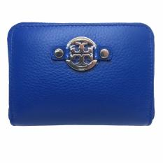 Compare Prices For Tory Burch Women S Amanda Zipped Short Coin Case Wallet Jelly Blue