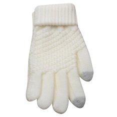 e03baa956 Touch Screen Magic Gloves Women Girl Female Stretch Knitted Gloves Mittens Winter  Warm Accessories - intl
