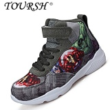 Sale Toursh Boys High Top Fashion The Avengers Shos Children Shoes Grey Intl Toursh Original