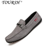 For Sale Toursh Men Set Foot Flats Loafers Shoes Suede Ventilate Shoes Four Seasons(Grey) Intl