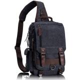 Buy Tourya Canvas Crossbody Bags For Men Female Messenger Chest Bag Pack Sling Bag Large Capacity Handbag Single Shoulder Strap Pack Black Intl Oem Original