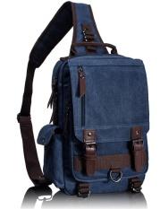 Shop For Tourya Canvas Crossbody Bags For Men Female Messenger Chest Bag Pack Sling Bag Large Capacity Handbag Single Shoulder Strap Pack Dark Blue Intl