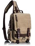 Sale Tourya Canvas Crossbody Bags For Men Female Messenger Chest Bag Pack Sling Bag Large Capacity Handbag Single Shoulder Strap Pack Khaki Intl Oem Cheap