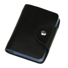 Tp New Super Quality Leather Small Card Holder Case Credit Card Holderwallet 26 Slots Black Intl On Line