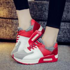 Trends Women S Casual Shoes Sneakers Flat Shoes Outdoor Sports Fitness Running Fashion Shoes Red Intl Reviews