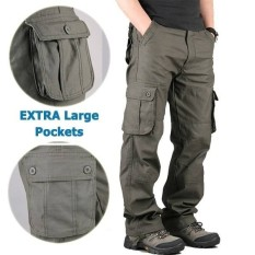 Compare Prices For Trendy Men Outdoor Leisure Pants Trousers Baggy Pants Loose Straight Men S Casual Pants Army Green Intl