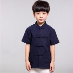 Discount Tz016 New Toddler Boys Navy Top Cny Tangzhuang Traditional Shirt Oem