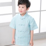 Price Compare Tz021 New Toddler Boys Turquoise Top Cny Tangzhuang Traditional Shirt