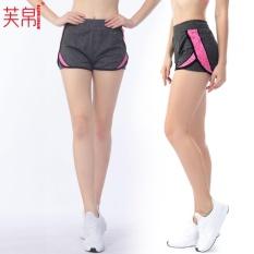 Price Fullbelief Woman Sports Shorts Running Gym Bodybuilding Summer Yoga Slim Quick Dry Ventilation Anti Exposure Thin Female Hot Pants Rose) Intl Fullbelief