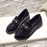 Discounted Chic British Spring And Autumn New Style Students Women S Shoes Small Leather Shoes Black Buckle