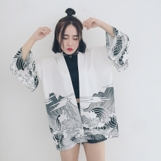 Ulzzang Japanese Style Robe Japanese Kimono Bathrobe White For Sale Online