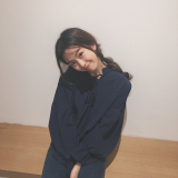 Buy Ulzzang Korean Chiffon Long Sleeve Autumn Lace Up Wanwan Shan Women S Blouses Sapphire Blue Color Sapphire Blue Color Other Cheap