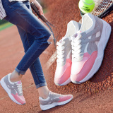 Women S Korean Style Running Shoes White Pink Pink Deal