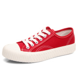 For Sale Ulzzang Korean Version Of White Shoes Cloth Shoes Canvas Shoes Red