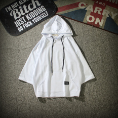 Price Comparisons For Ulzzang Spring And Summer Men And Women Celebrity Inspired Three Quarter Length Sleeve Hoodie White