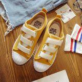 Discount Ulzzang Versatile Student White Shoes Velcro Canvas Shoes Yellow