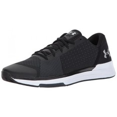 Under Armour Mens Showstopper, Black/White/Metallic Silver, 9.5 D US -