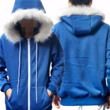 Undertale Sans Cosplay Blue Hoodie Hooded Jacket Coat Sweater Costume Sport Intl China