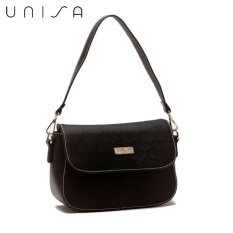Buy Unisa Duo Texture 2 Way Usage Sling Bag Black Online
