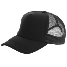 4f43069ff5f6ef Unisex Adjustable Casual Sport Baseball Breathable Blank Mesh Sun  Protection Trucker Hat Peaked Hat Cap Black