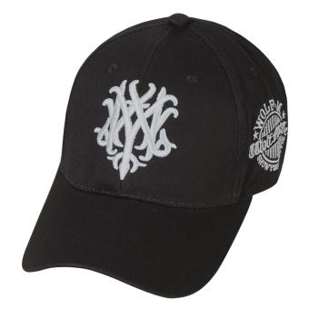 Unisex Adjustable Plain Outdoor Sports Sun Golf Ball Hat Black + Silver