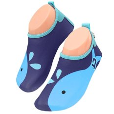 Unisex Kids Lightweight Barefoot Water Aqua Skin Socks Shoes With Non-Slip Sole For Beach Swim Snorkel Surf Yoga Exercise Blue Size M - Intl By Stoneky.