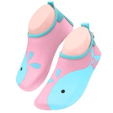 Unisex Kids Lightweight Barefoot Water Aqua Skin Socks Shoes With Non-Slip Sole For Beach Swim Snorkel Surf Yoga Exercise Pink Size Xl - Intl By Stoneky.