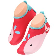 Unisex Kids Lightweight Barefoot Water Aqua Skin Socks Shoes With Non-Slip Sole For Beach Swim Snorkel Surf Yoga Exercise Red Size S - Intl By Stoneky.