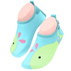 Unisex Kids Lightweight Barefoot Water Aqua Skin Socks Shoes With Non-Slip Sole For Beach Swim Snorkel Surf Yoga Exercise Sky Blue Size Xl - Intl By Stoneky.