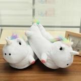 Unisex Lovely 3D Plush Unicorn Light Up Slippers Soft Fluffy Indoor Shoes Winter White Intl Lowest Price