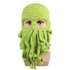 Unisex Octopus Pattern Ski Face Mask Squid Cap Green By Amart.