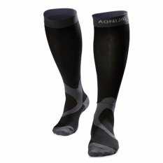 Discount Unisex Outdoor Graduated Compression Socks Sport Mid Calf Length Sock For Running Recovery Cycling Black Intl