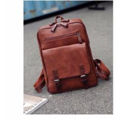 Unisex Stylish Leather Backpack Brown Reviews