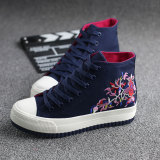 Price Korean Style Embroidery Female Heavy Bottomed Shoes Universal Dark Blue Universal Original