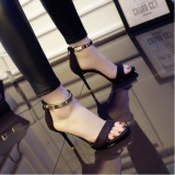 Buy Up Europe And America S*xy High Heels Sandals Black Intl China