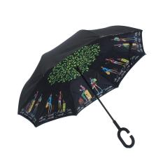 Who Sells Us Big Double Layer Upside Down Inverted Reverse Umbrella C Handle Windproof New Intl Cheap