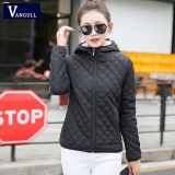 Top Rated Vangull Women Winter Jacket Hooded Fleece Solid Warm Coat 2017 Autumn Spring Thin Outerwear Female Short Student Jaqueta Feminina Intl